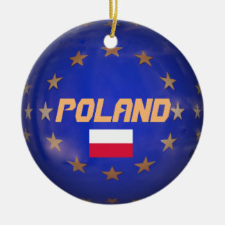 Poland E.U. Custom Christmas Ornament