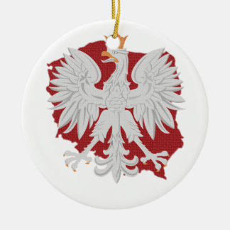 Poland Eagle Ceramic Ornament