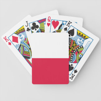 Poland Flag Bicycle Playing Cards
