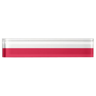 Poland Flag Desk Name Plates