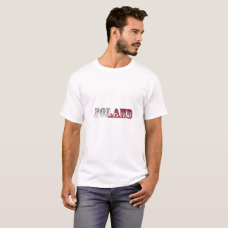 Poland Flag Fun Font T-Shirt
