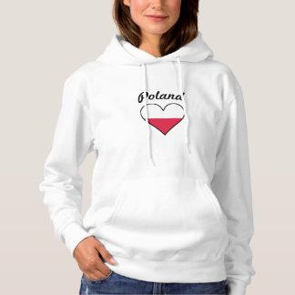 Poland Flag Heart Hoodie