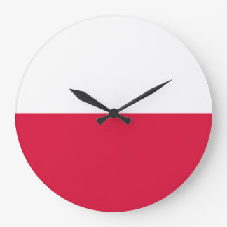 Poland Flag Large Clock