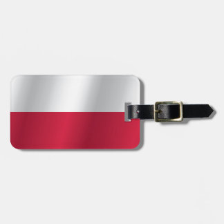 Poland flag luggage tag