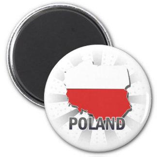 Poland Flag Map 2.0 Magnet