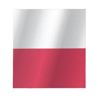 Poland flag notepad