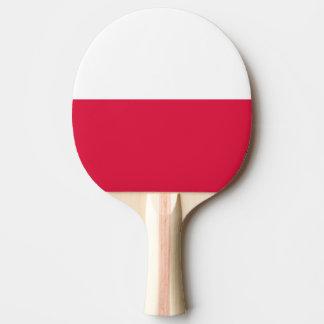 Poland Flag Ping Pong Paddle