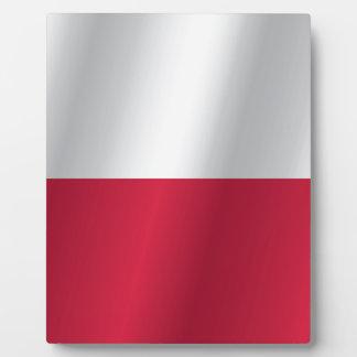 Poland flag plaque