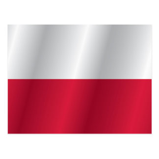 Poland flag postcard