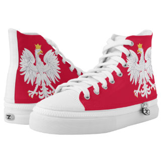 Poland Flag Printed Shoes