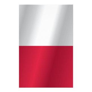 Poland flag stationery