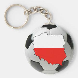 Poland national team basic round button key ring