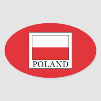 Poland Oval Sticker
