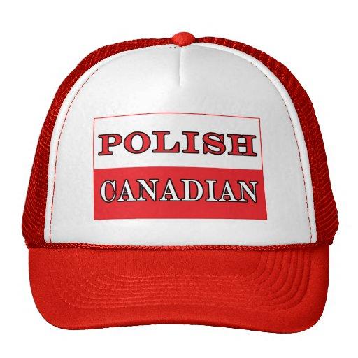 Poland Polish Canadian Flag Mesh Hats