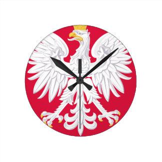 Poland Polish coat of arms Round Clock