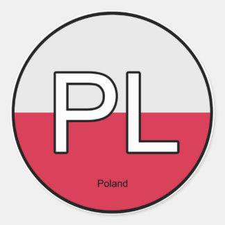 Poland Polska Euro Sticker