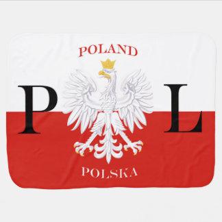 Poland Polska Flag PL Baby Blanket