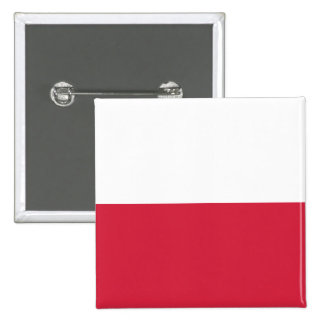 Poland Pure White And Red Poland Pinback Buttons