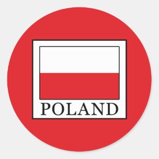 Poland Round Sticker