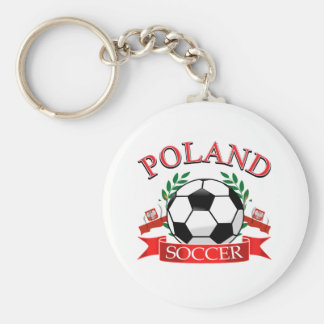 Poland soccer ball designs basic round button key ring