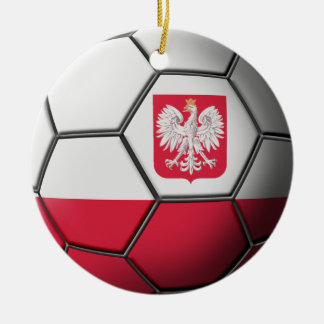 Poland Soccer Ornament