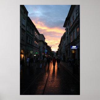 Poland Sunset Poster