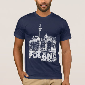 Poland Warsaw on dark T-Shirt