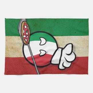 Polandball - Italyball making pizza Tea Towel