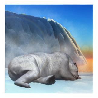 Polar bear - 3D render Acrylic Print