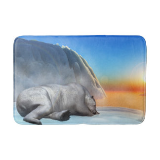 Polar bear - 3D render Bath Mat