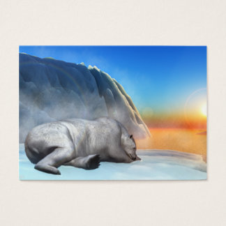 Polar bear - 3D render Business Card