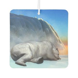 Polar bear - 3D render Car Air Freshener