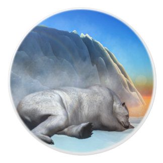 Polar bear - 3D render Ceramic Knob