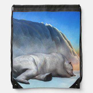 Polar bear - 3D render Drawstring Bag