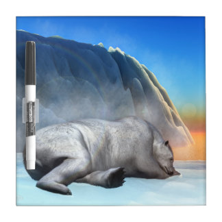 Polar bear - 3D render Dry Erase Board