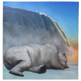 Polar bear - 3D render Napkin