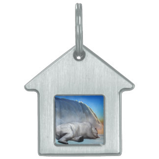 Polar bear - 3D render Pet Tag
