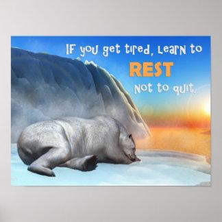 Polar bear - 3D render Poster