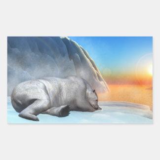 Polar bear - 3D render Rectangular Sticker