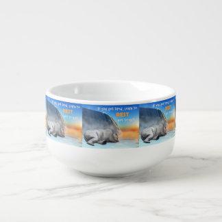 Polar bear - 3D render Soup Mug