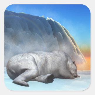 Polar bear - 3D render Square Sticker