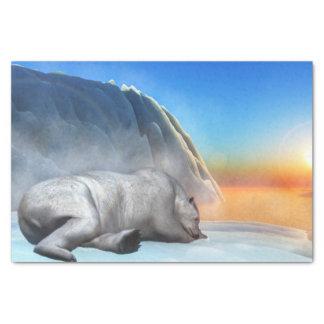 Polar bear - 3D render Tissue Paper