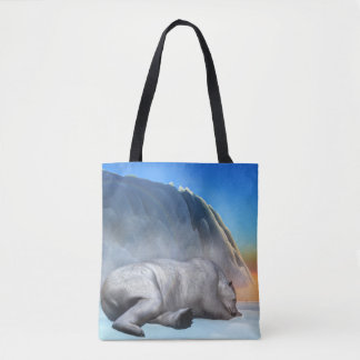 Polar bear - 3D render Tote Bag