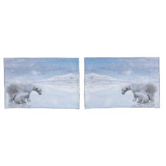 Polar bear and cub pillowcase