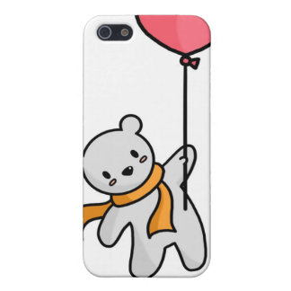 Polar Bear and Heart Balloon iPhone Case Case For iPhone 5/5S