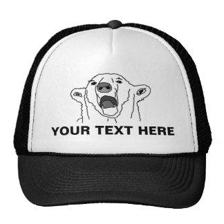 Polar Bear And Your Text Cap