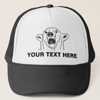 Polar Bear And Your Text Trucker Hat