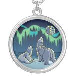 Polar Bear Art Necklace Native Bear Art Jewellery