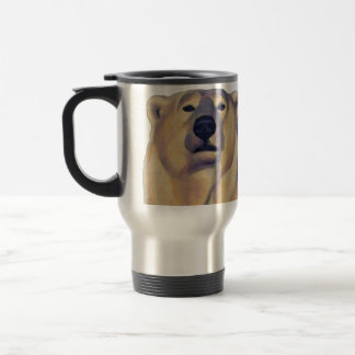Polar Bear Art Travel Mug Wildlife Art Bear Cup