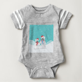 polar bear B Baby Bodysuit